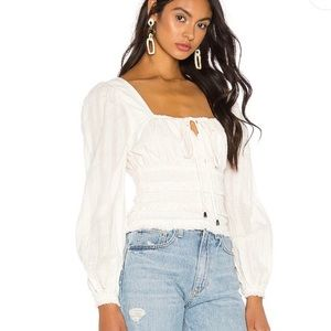 NWT Free People Lolita Top in White